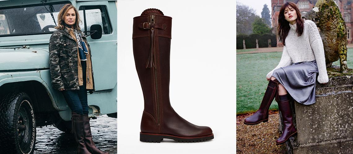Long Brown Tassel Boots